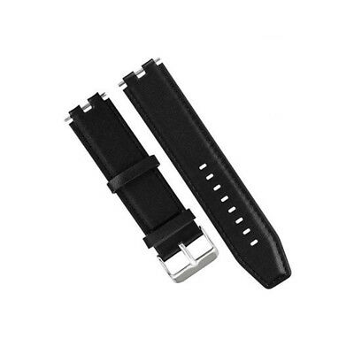 Genuine Leather Watch Band Strap Watchbands For Pebble Steel Smart Watch Black