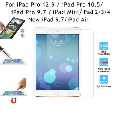 HD Tempered Glass Screen Protector Film 9H Hardness Scratch Resistant for iPad
