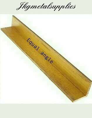 """SOLID BRASS EQUAL ANGLE - 1"""" x 1"""" x 1/16"""" thick -  various lengths"""