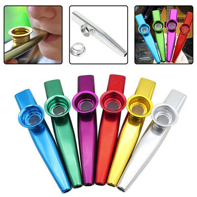 New Kazoo Metal with Flute Diaphragm Gift for Kids Music Lovers 6 Colorsk