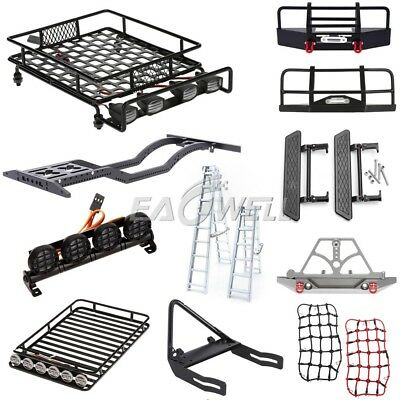 Front Bumper Roof Luggage Rack Net Ladder For 1/10 Trx-4 Axial SCX10 RC Crawler