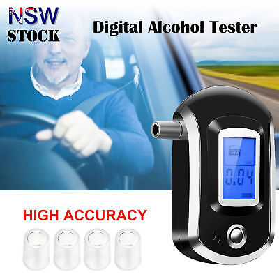 Digital Breath Alcohol Tester Health Care Portable Breathalyzer LCD Display