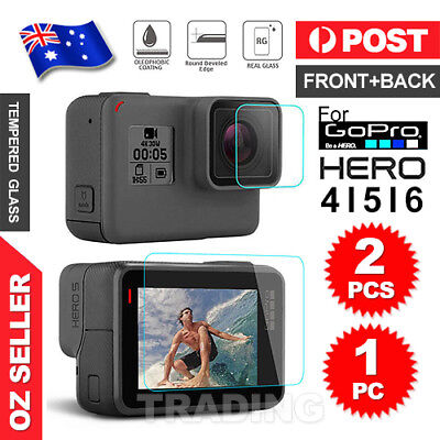 2x LCD Lens Tempered Glass Film Screen Protector For GoPro Hero 4 5 6 Camera