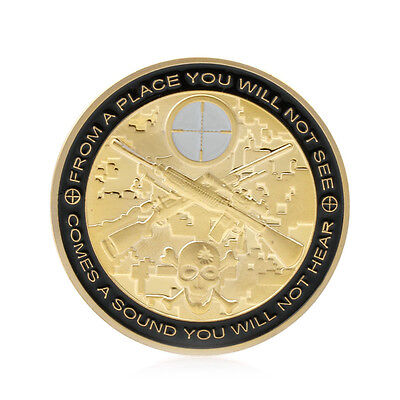 You Can Run But You Will Only Die Tired Snipers Commemorative Coin Challenge New
