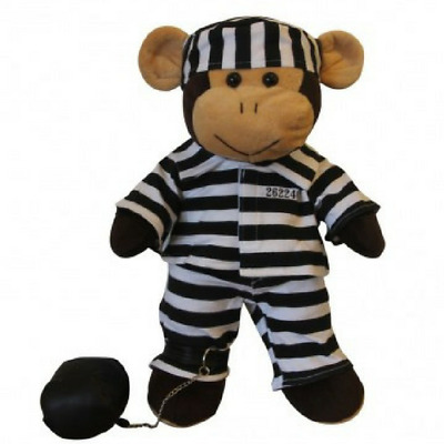 "Prisoner Outfit Teddy Bear Clothes For 16""/40Cm Teddies & Build Your Own Bear"