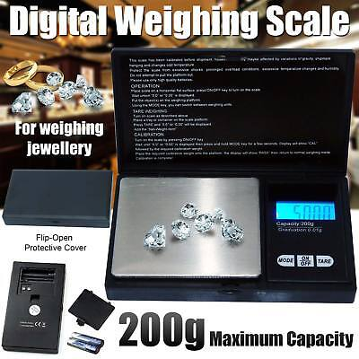 Mini 200g 0.01g DIGITAL POCKET SCALES JEWELLERY PRECISION ELECTRONIC WEIGHT LAB