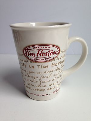 NEW! Tim Hortons EVERY CUP TELLS A STORY Ceramic Mug Cup Ltd Edition #009, 2009