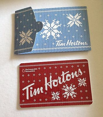 TIM HORTONS Gift Card ZERO $ BALANCE, WARM WISHES w/Holder No Value Collectible
