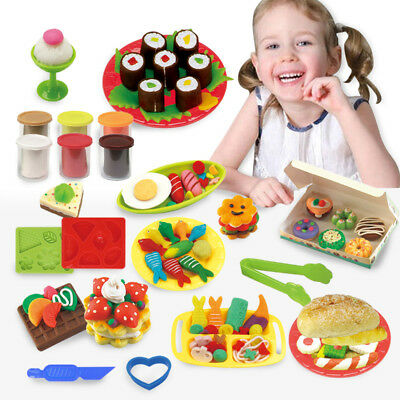Colour Playdough Light Clay Dough Plasticine Mould Play Kit Diy Toy For Girls