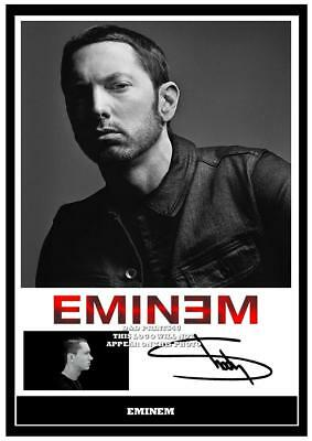 155.  eminem signed a4 photograph great gift