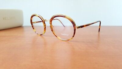 Vintage GIANNI VERSACE MOD. 684 Col. 960 Round Eyeglasses Frame Made in Italy