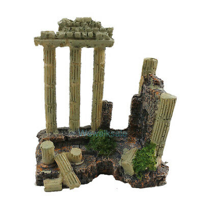 Ancient Greek Temple Ruins Roman Aquarium Decorations Terrarium Ornament Decor