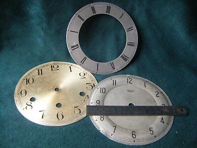 Three Vintage Mantel Clock  Faces