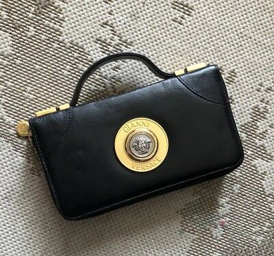3c0a766f387f8 Gianni Versace Vintage Medusa Clutch Bag RARE Early 90 s Excellent Condition