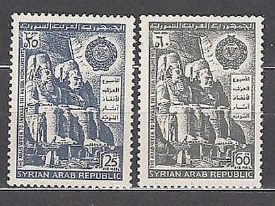 Syria - Air Yvert 283/4 Mnh Monuments of Nubia