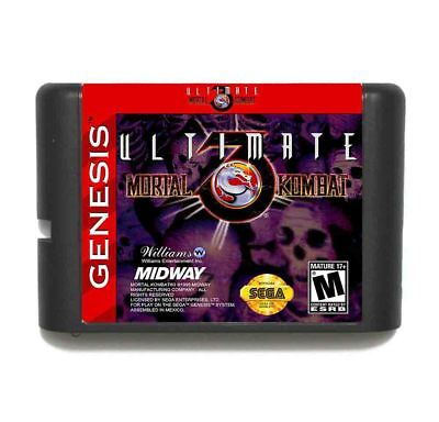 Ultimate Mortal Kombat 3 16 bit SEGA MD Game Card For Sega Mega Drive Genesis
