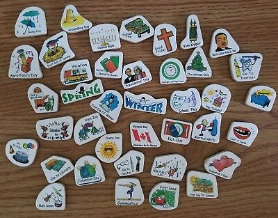 Magnetic wooden calendar days holidays reminders pieces/parts/accessories magnet