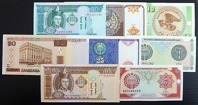 WORLD BANKNOTES 8 Different Uncirculated NH321