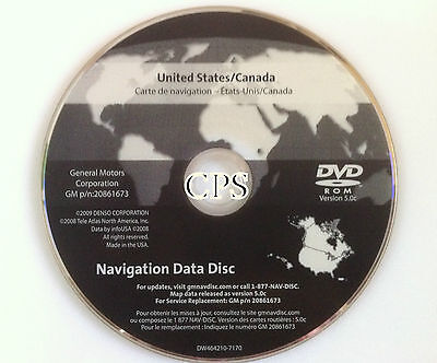 NEW GM SATELLITE Navigation GPS System Map CD Maps Disc 20857425U ...