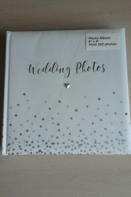 Wedding, Honeymoon Photo Picture Album Book Bride Groom Silver Heart Me to You