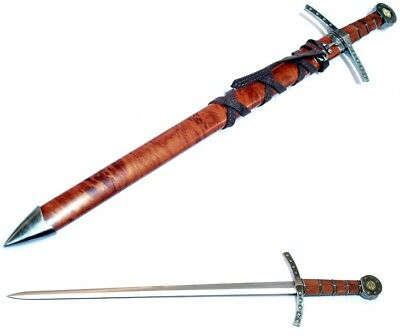 """EXCALIBUR 23"""" Medieval Style ROUND TABLE Detailed Sword w/ Sheath - Sharp!"""