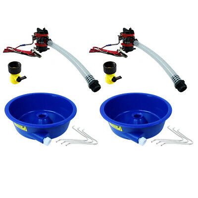 Blue Bowl Concentrator Kit Dual Pack with Pump & Battery Clips Gold Prospecting