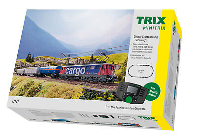 Trix 11141 Digital Starter Pack Freight Train the SBB with MS 66955 #