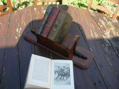 Antique Book Trough. Walnut and Ebony Crocodiles. C.1900 V Rare.  (72)