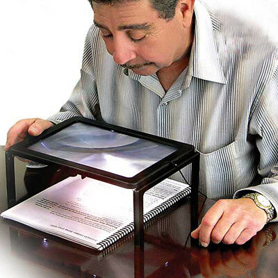 Ultrathin Large Magnifier Foldable Magnifying Glass Reading Black rimmed