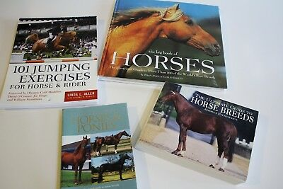 Horse Equestrian Book Lot Hardcover Softcover Breeds Guide Jumping Exercises