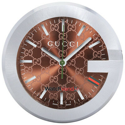 Gucci Browrn Dial Table Clock YC210007