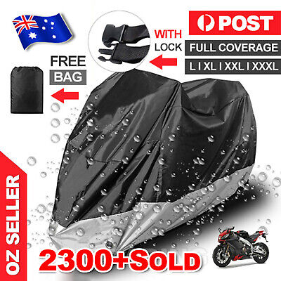 Large Waterproof Outdoor Motorcycle Motorbike Cruiser Scooter Motor Bike Cover