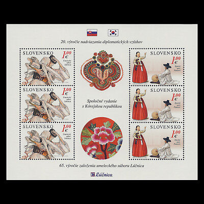 Slovakia 2013 - Diplomatic Relations with South Korea Joint Issue - Sc 664a MNH