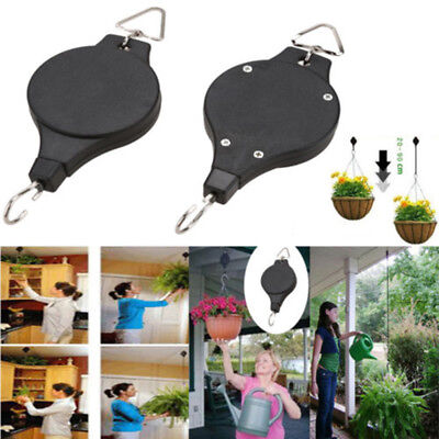 Hook Down Lower Easy Pull # Retractable 1pc Holder Basket Plant Hanging Hanger