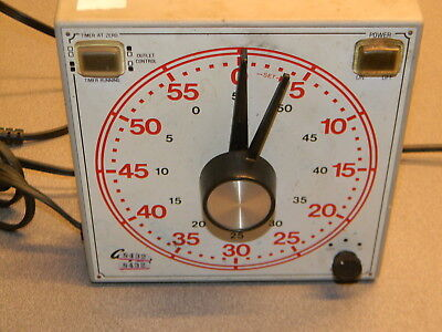 "GraLab Model 171 60 Minute General Purpose Timer, 7-1/2"" Length x 7-1/2"" Width"