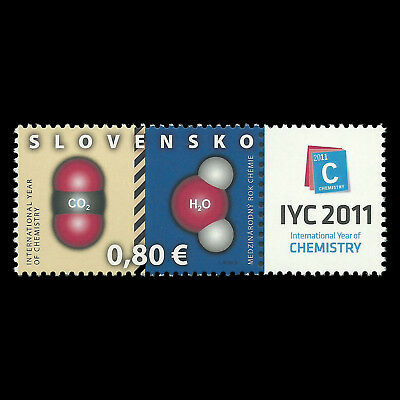 """Slovakia 2011 - Intl. Year of Chemistry """"Joint Issue"""" Science - Sc 609 MNH"""