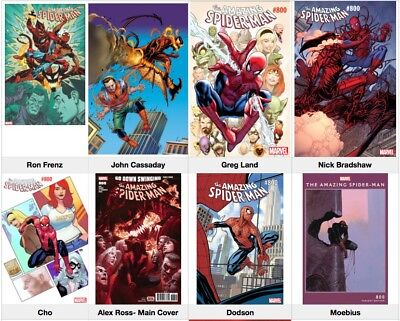 AMAZING SPIDERMAN 800 VARIANT SET (13) Books PRE-SALE 5/30