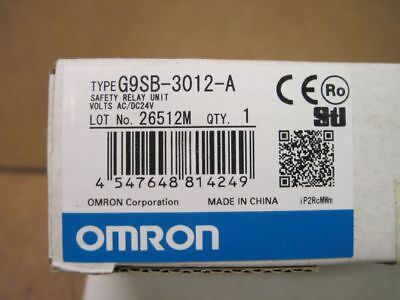 OMRON G9SB-3012-A SAFETY RELAY Unit G9SB3012A