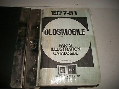 1977 1978 1979 1980 1981 Oldsmobile Master Parts Catalog W/ Binder