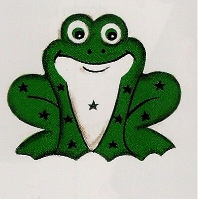 "Reversible punched METAL FROG country ornament 3x2.5""  wall frogs decor sign"