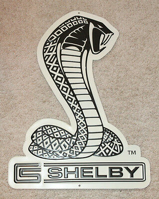 Shelby Mustang Sign Ford Cobra Snake Metal, Gt350, Gt500 Carroll Shelby Man Cave