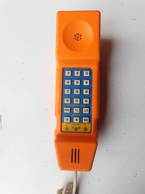 GPO BT Post Office Engineers Test Telephone Linesmans phone 284A funky orange