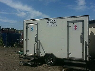 1+1 portable mains toilet  hire  £80 per weekend in Yorkshire read description