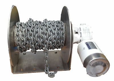 Free Fall Electric Drum Anchor Winch DFF10 Muir 12 volt