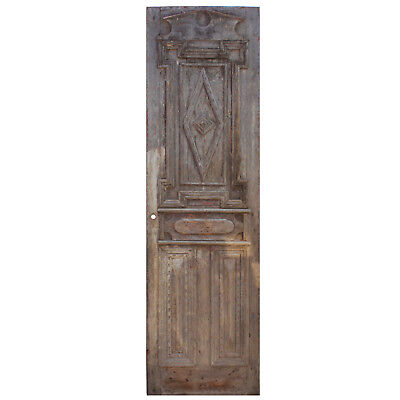"""Salvaged Antique 28"""" Wood Door from France, NED858"""