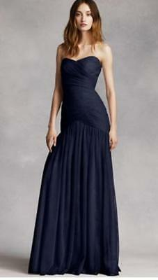 65ec44da1d WHITE BY VERA Wang Dress - Strapless Midnight Blue - Sz 0 -  79.99 ...