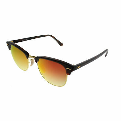 83eeb808c5 Ray-Ban Clubmaster RB 3016 990 4W Red Havana Sunglasses Red Flash Gradient  Lens