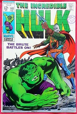 INCREDIBLE HULK 112 MARVEL SILVER AGE 1969 Death of Galaxy Master