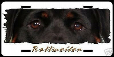 """Rottweiler  """" The Eyes Have It """"  License Plate"""