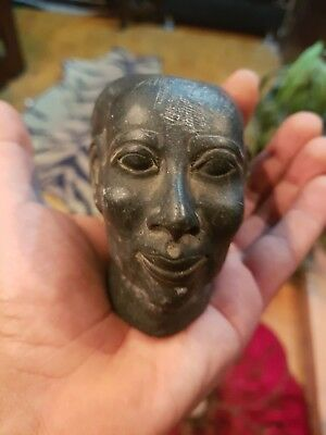 Rare Antique Ancient Egyptian Head  STatue Amenhotep Pharaoh
